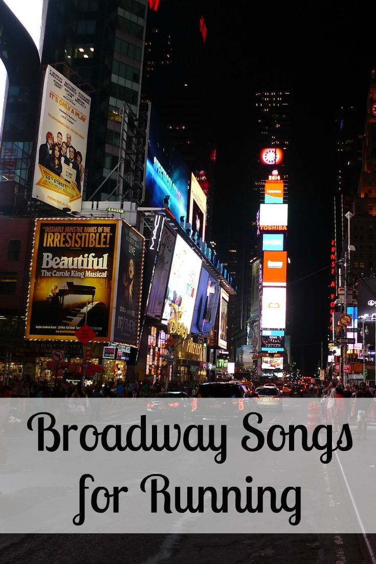 Broadway Songs for Running - a fun way to put a little step, ball change, step in your run!