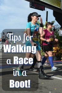 Tips for Walking a Race in a Boot