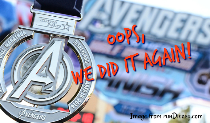 Avengers Super Heroes Half Marathon Weekend: We're REGISTERED!