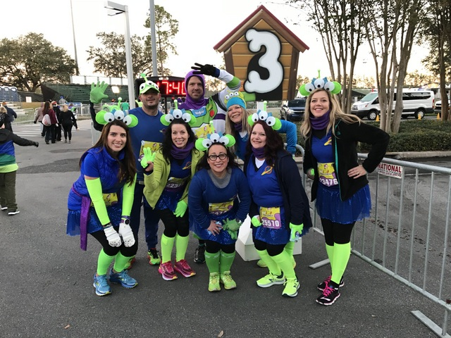 2018 WDW 5k: Toy Story Alien Running Costumes