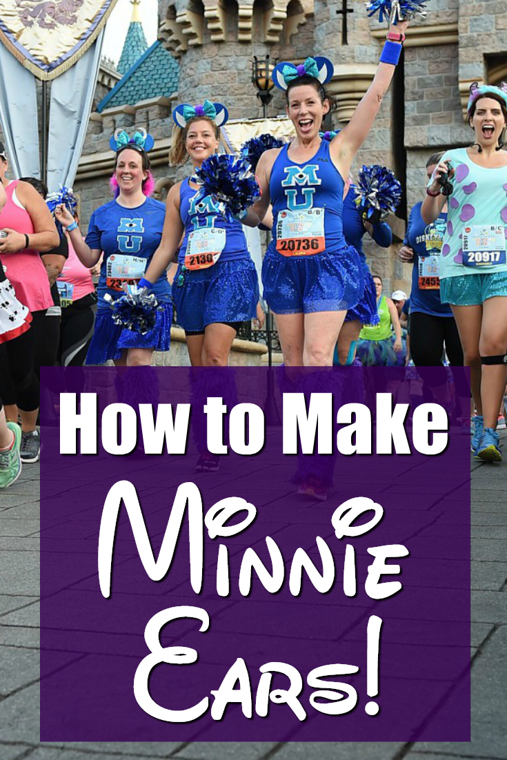 How to make Minnie Mouse Ears for runDisney Races